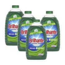 Kit 4 Lava-Roupas Líquido Brilhante Higiene Total 3l -