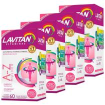 Kit 4 Lavitan A-z Mulher Polivitamínico 60 Comprimidos - Cimed