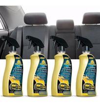 Kit 4 Limpa Couro Automotivo Plástico E Estofado Autoshine -