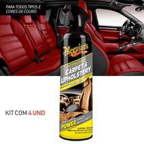 Kit 4 Limpador de Carpete, Couro e Estofado Automotiva Meguiars G9719 -