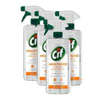 Kit 4 Limpador Multiuso Cif Elimina Mau Odor 500ml -