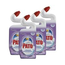 Kit 4 Limpador Sanitário Pato Gel Lavanda Limpeza Profunda 500ml -