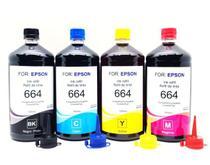 Kit 4 Litros de Tinta Especifica Para Epson Bulk Ink L4150 L4160 L6161 L6171 L3110 L3150 - Formulabs