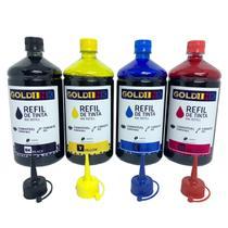 Kit 4 Litros de Tinta Gold Ink para Impressoras Epson  L 395 L380 -