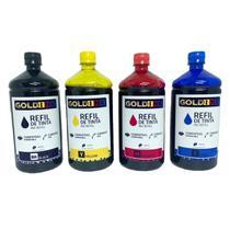 Kit 4 Litros de Tinta Gold Ink para Impressoras Epson L 4150 L4160 -