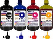 Kit 4 Litros Tinta Compatível Epson L380 L220 L120 L355 L455 - Authentic