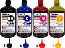 Kit 4 Litros Tinta Compatível Epson L395 L396 L495 L475 L455 - Authentic