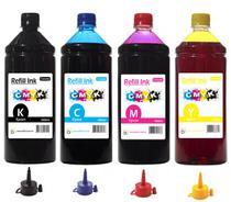 Kit 4 Litros Tinta Compatível Impressora L355 L365 L375 L395 - Refill Ink
