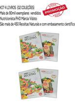KIT 4 LIVROS: SAÚDE NUA E CRUA (02) E RECEITAS (02) * Promocão * - Editora Bioeditora