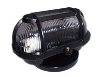 Kit 4 Luminaria FM cod 501 Tartaruga Aluminio Vidro Transp Preto -