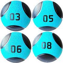 Kit 4 Medicine Ball Liveup PRO 3 5 6 e 8 kg Bola de Peso Treino Funcional LP8112 -