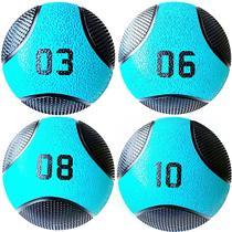 Kit 4 Medicine Ball Liveup PRO 3 6 8 e 10 kg Bola de Peso Treino Funcional LP8112 -