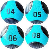 Kit 4 Medicine Ball Liveup PRO 4 5 6 e 8 kg Bola de Peso Treino Funcional LP8112 -