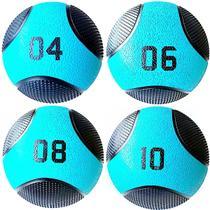 Kit 4 Medicine Ball Liveup PRO 4 6 8 e 10 kg Bola de Peso Treino Funcional LP8112 -