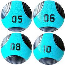 Kit 4 Medicine Ball Liveup PRO 5 6 8 e 10 kg Bola de Peso Treino Funcional LP8112 -