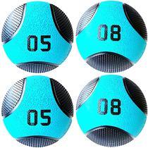 Kit 4 Medicine Ball Liveup PRO 5 e 8 kg Bola de Peso Treino Funcional LP8112 -