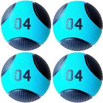 Kit 4 Medicine Ball Liveup PRO B 4 Kg Bola de Peso Treino Funcional LP8112-04 -