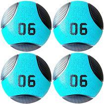 Kit 4 Medicine Ball Liveup PRO D 6 Kg Bola de Peso Treino Funcional LP8112-06 -