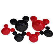 Kit 4 Mini + 2 Petisqueiras + Jogo Americano Mickey e Minnie - Disney