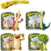 Kit 4 Mini Figura De Ação 8cm Dinossauro Gigantossauro Mimo - Mimo Toys