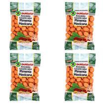 Kit 4 Pacotes Amendoim Crocante Sabor Pimenta Mexicana 50 gramas - Amendoim dumario