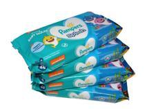 Kit 4 pacotes lenço umedecidos Pampers Splash suave 192 unid -