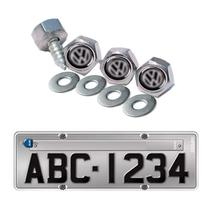 Kit 4 Parafusos De Placa Emblema Volkswagen -  Up Fox Gol Voyage Virtus Jetta - Clic Peças