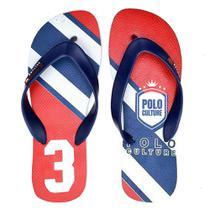 Kit 4 Pares Chinelos Masculinos Polo Culture Verão Conforto -