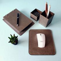 Kit 4 pçs argola mousepad caneta e clips prata velho+ castor - Apparatos
