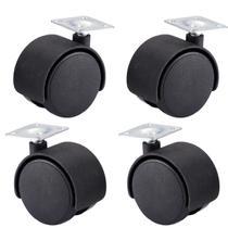 Kit 4 Peças de Rodinhas de Plástico Para Cadeiras 30mm - Monaliza