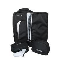 Kit 4 Peças para PS5 - Bolsa + Capa console e  2 Cases para Controles - Atcompact