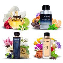 Kit 4 Perfumes Importados La Rive Masculino e Feminino -