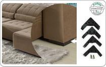 kit 4 pés de plástico de sofá cama casal - Rodrim