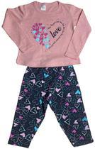 Kit 4 Pijama de Manga Longa Infantil Menina Divertida - Centra Kids
