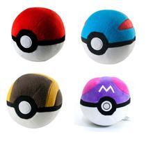Kit 4 Pokébola Pokémon: Pokéball + Great + Ultra + Master Ball - Tomy -