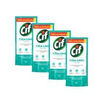 Kit 4 Refil Desinfetante Uso Geral Cif Tira-Limo 450ml -