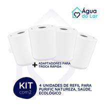 Kit 4 Refil Filtro Purific Natureza Ecológico Saúde - Top Purik 3 - Planeta Água
