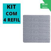 Kit 4 Refil Microfibra Mop Flat Esfregão Boni - 123 ÚTIL