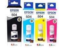 Kit 4 Refil Tinta Epson L6161 L4150 L4160 L6191 L6171 T504 -
