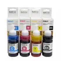 Kit 4 refis de tintas compatíveis t664 l200 l210 l110 l355 l555 l365 l455 l396 - Refil Ink