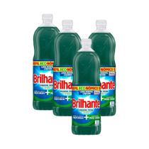 Kit 4 Refis Lava-Roupas Líquido Brilhante Higiene Total 1l -