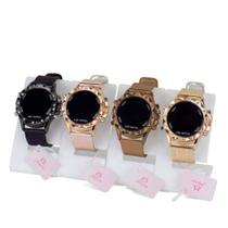 Kit 4 Relógios Femininos  Digitais em LED  Dourado - Orizom