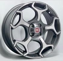 Kit 4 Rodas Aro 17 4x98 Punto Abarth Grafite Diamantada Original Fiat -