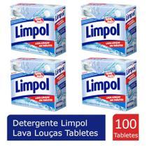 Kit 4 Sabao Maquina Lava Louças Limpol Tabletes -