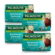 Kit 4 Sabonetes em Barra Palmolive Naturals Esfoliação Delicada 85g -