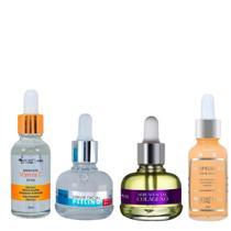 Kit 4 Serum Facial Colageno + Antipoluicao + Peeling + Vitamina C Skin Care Max Love -