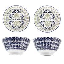 Kit 4 Tigelas Bowl Cumbuca Porcelana 600 ml Luxo Importada Venezia CH1351-6 / 03 - Santa cecilia