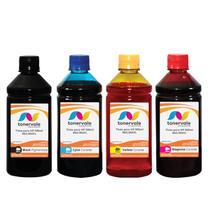 Kit 4 Tinta Compatível para Recarga HP 664 Black 664 Color - Impressoras HP 3636 2136 1115 4536 4676 - Toner Vale