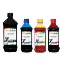 Kit 4 Tinta Compatível para Recarga HP Universal de 1L Black e 500ml Color QuimiPrime - Toner Vale