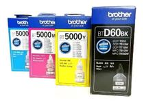 Kit 4 Tintas Brother Btd60bk Bt5001 cmyk Original para DCP-T510W -